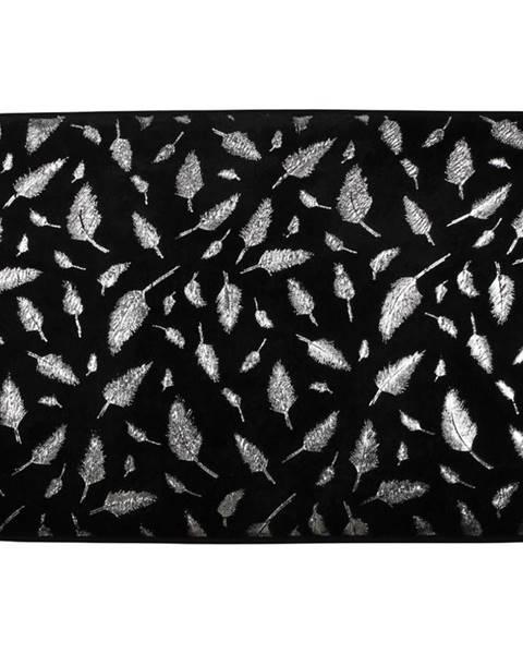 BAUMAX Koupelnová předložka Piume černostříbrná 40x60cm