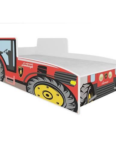 Dětská Postel Tractor 140 Červený