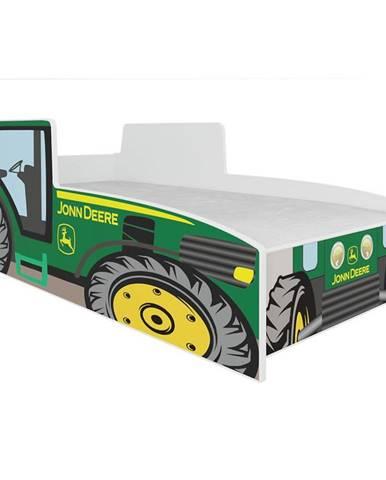 Dětská Postel Tractor 140cm Zelený
