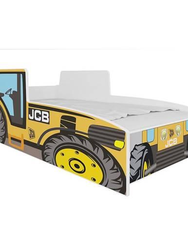 Dětská Postel Tractor 140cm Žlutý