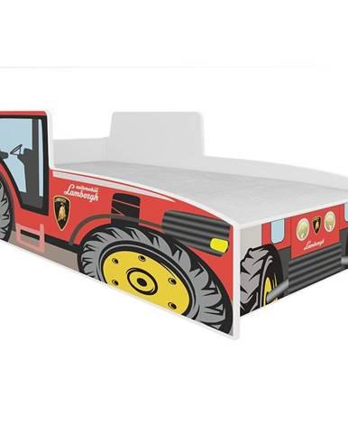 Dětská Postel Tractor 160 Červený