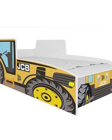 Dětská Postel Tractor 160cm Žlutý