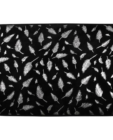 Koupelnová předložka Piume černostříbrná 40x60cm
