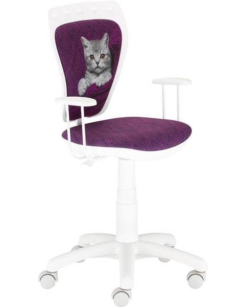 BAUMAX Otáčecí Židle Ministyle White - Kočka Ve Svetru