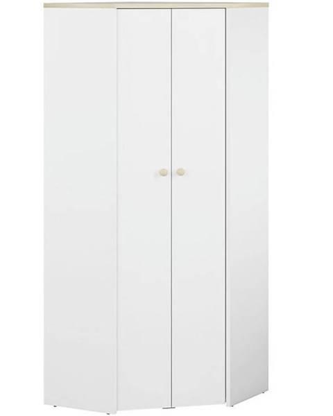 BAUMAX Rohova Skříňe Elmo 80cm Bílá/Buk Fjord