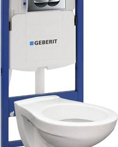 Geberit steláž duofix basic 111.153.00.1 + tlačítko + wc misa závěsná