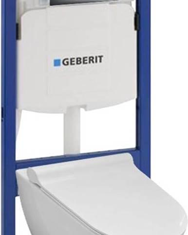 Geberit steláž duofix basic 111.153.00.1 + tlačítko + wc misa závěsná rimless se sedatkem soft close