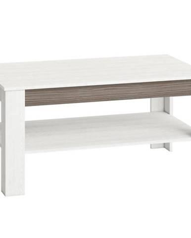 Konferenční stolek Blanco 114 cm, borovice sněžná / new grey