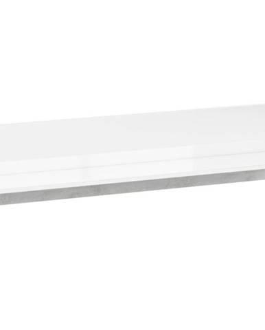 Polička Lumens 120 cm, bílá / beton