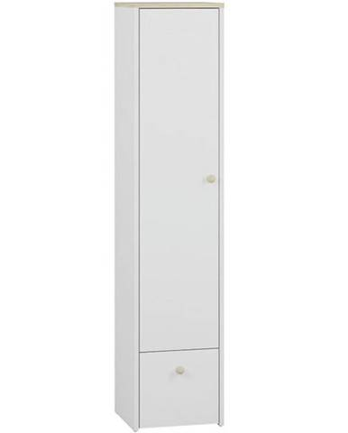 Prádelník Elmo 43cm Bílá/Buk Fjord