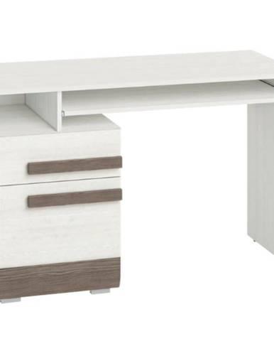 Psací Stůl Blanco 119 cm Borovice Sněžná/New Grey