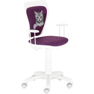 Otáčecí Židle Ministyle White - Kočka Ve Svetru