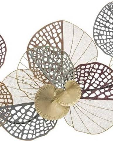 Kovová závěsná dekorace se vzorem trojlístků MauroFerretti Stain, 91x45cm