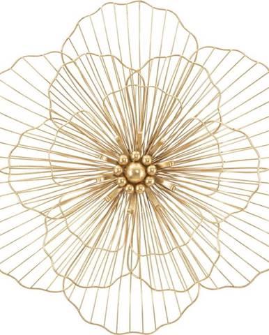 Nástěnná dekorace ve zlaté barvě Mauro Ferretti Flower Stick, 58,5x55cm