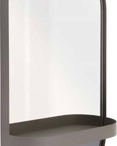 Šedé nástěnné zrcadlo s poličkou Remember Taupe