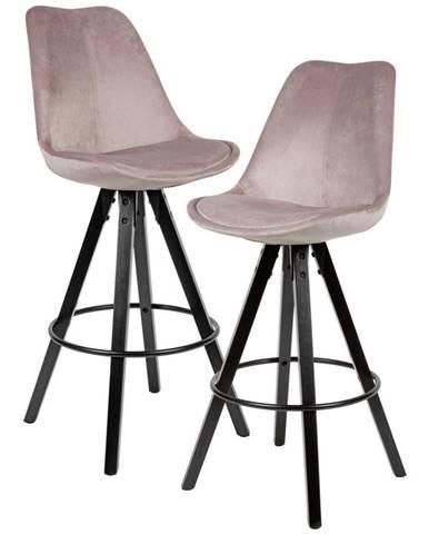 Barová Židle 2ks Růžová