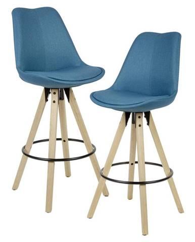 Barová Židle Barhocker 2ks Modrá