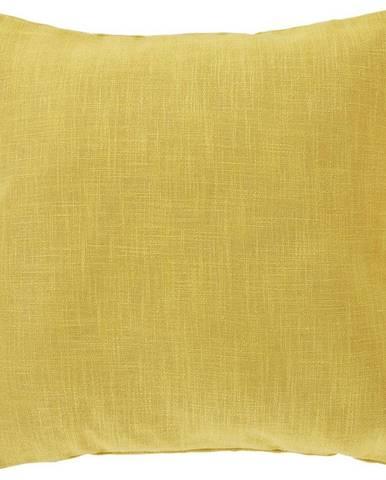 Povlak Na Polštář Vzhled Lnu, 50/50cm, Žlutá