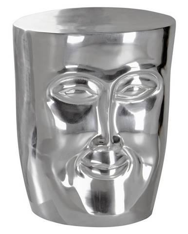 Odkládací Stolek Face Stříbrný