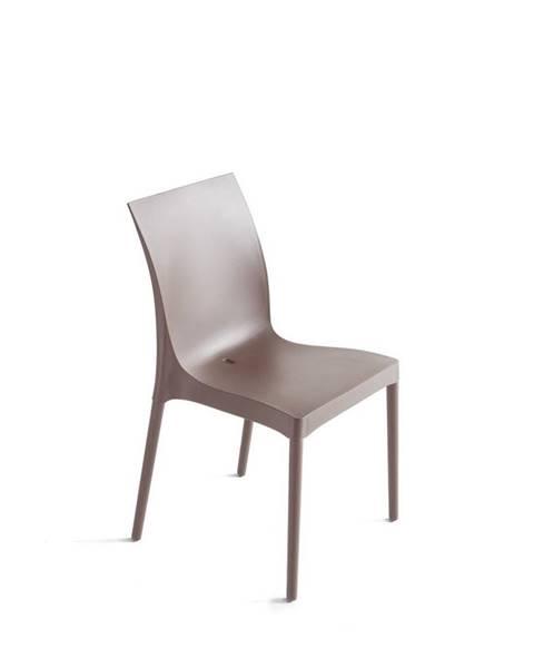 Möbelix Plastová Židle Eset Šedohnědá