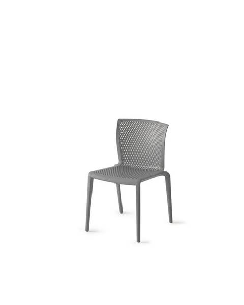 Möbelix Plastová Židle Spiker Šedá Sada 4ks