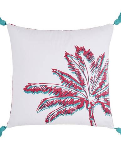 Dekorační Polštář Diamond Palm, 45/45cm, Bílá