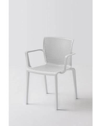 Plastová Židle S Područkami Spiker Bílá - Sada 4ks
