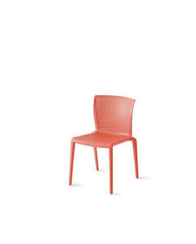 Plastová Židle S Područkami Spiker Červená - Sada 4ks