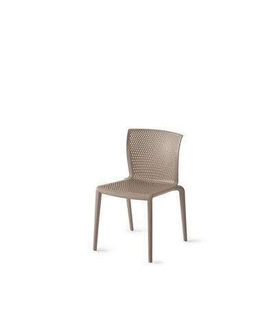 Plastová Židle Spiker Hnědošedá Sada 4ks