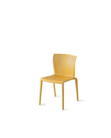 Plastová Židle Spiker Hořčicová Sada 4ks