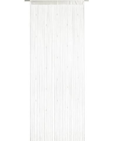 Provázková Záclona Perle, 90/245 Cm, Bílá