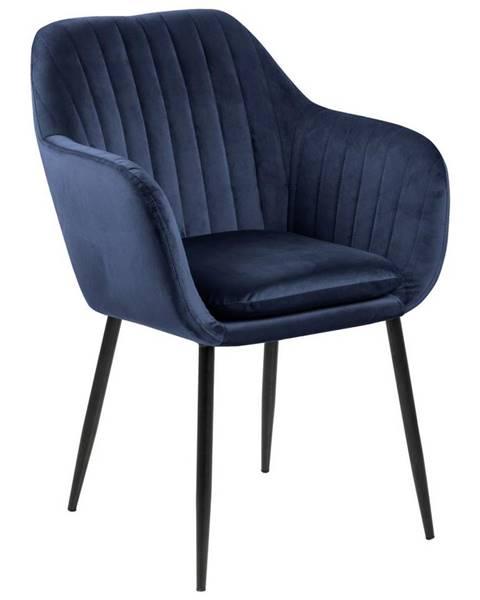 Möbelix Židle S Područkami Emilia Tmavě Modrá