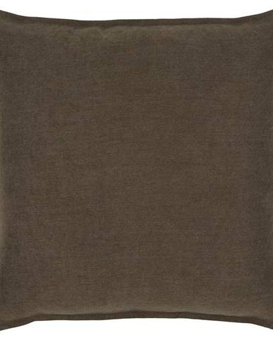 Polštář Ozdobný Poppy, 45/45 Cm, Hnědá