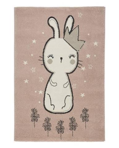 Dětský Koberec Bunny 1, 80/150cm, Růžová