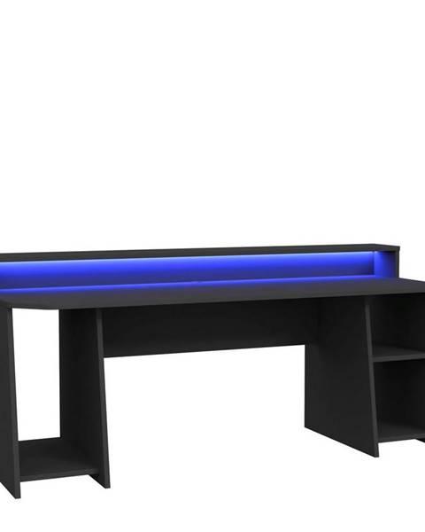 Möbelix Herní Stůl Tezaur Černá 200 Cm