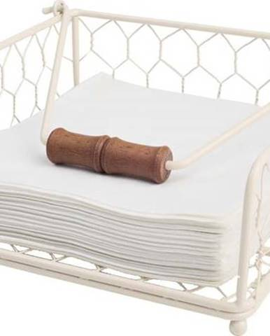Bílý kovový držák na ubrousky T&G Woodware