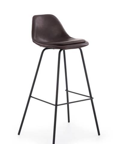 Halmar Barová židle H-90, tmavě hnědá