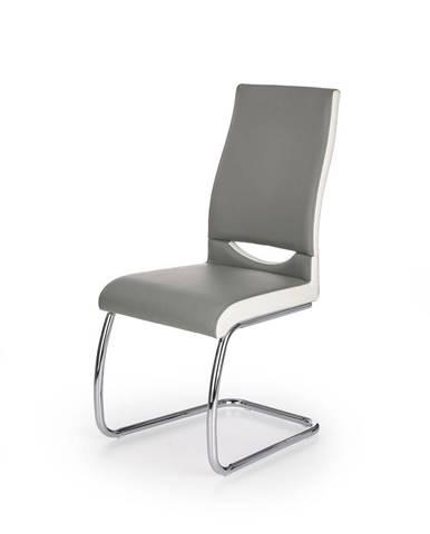 Halmar Jídelní židle K259, šedo-bílá