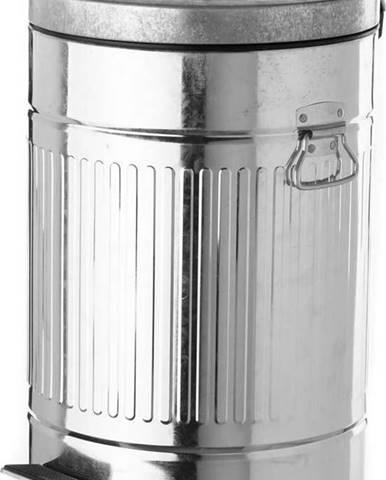Kovový odpadkový koš s pedálem Unimasa, 20 l