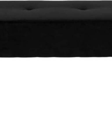 Černá sametová lavice House Nordic Skiby