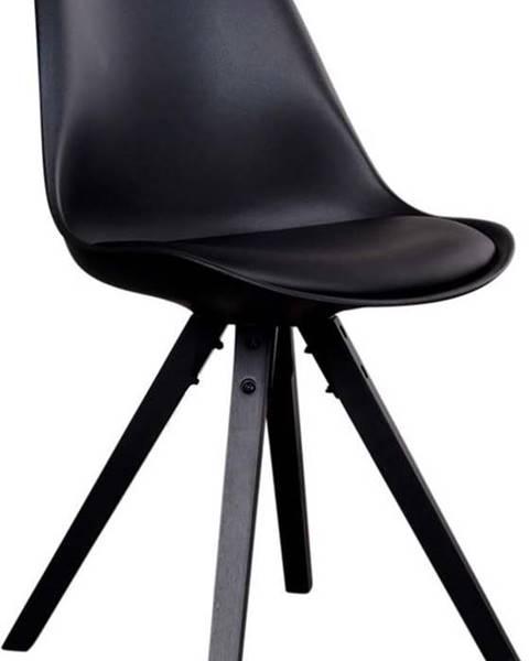 House Nordic Sada 2 černých židlí s černými nohami House Nordic Bergen