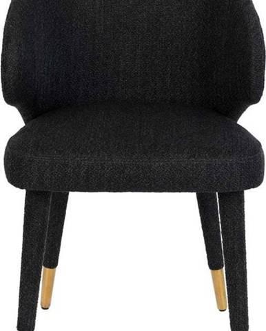 Černá jídelní židle Dutchbone Lunar