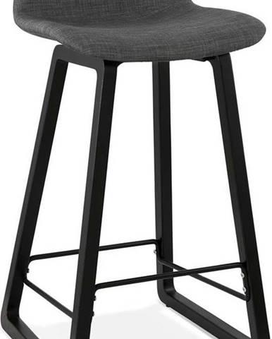 Černá stolička Kokoon Trapu Mini, výškasedu72cm