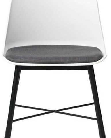 Sada 2 bílo-šedých židlí Unique Furniture Whistler