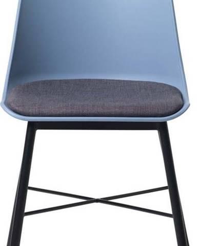 Sada 2 modro-šedých židlí Unique Furniture Whistler