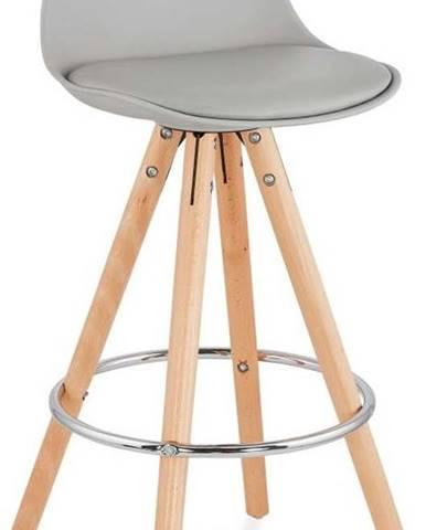 Šedá barová židle Kokoon Anau, výškasedu64cm