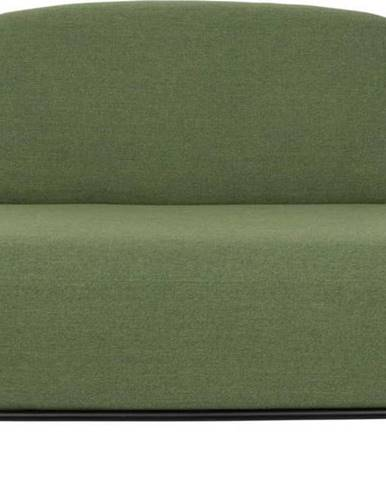 Zelená pohovka White Label Polly