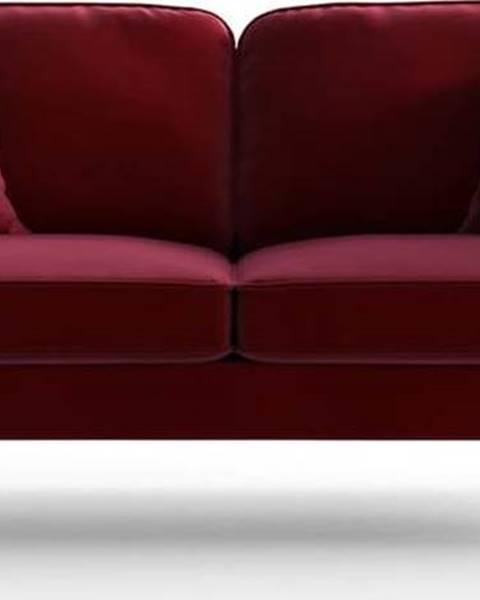 My Pop design Červená sametová pohovka My Pop Design Auteuil