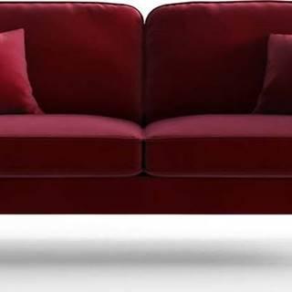Červená sametová pohovka My Pop Design Auteuil
