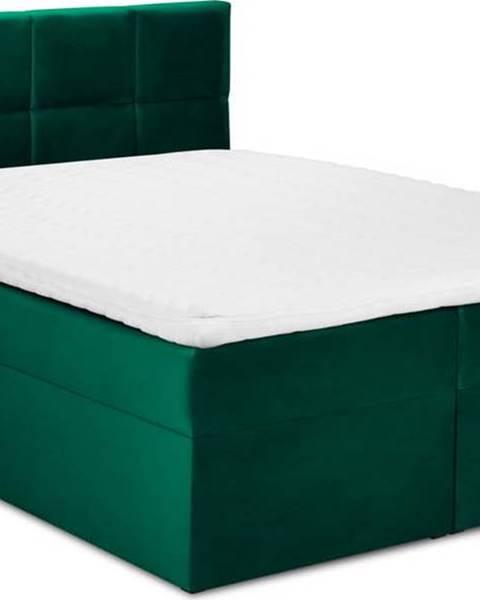 Mazzini Beds Zelená sametová dvoulůžková postel Mazzini Beds Mimicry,160x200cm